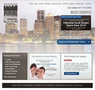 CitiDental website design by Solution21