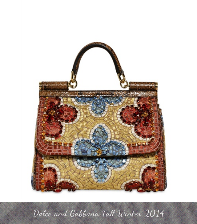 ddb04c234a Dolce and Gabbana Fall Winter Bags 2013 sequin mosaic
