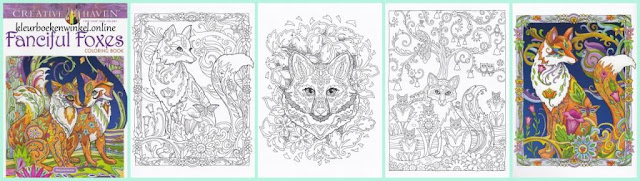 kleurboek fanciful foxes