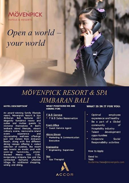 Lowongan kerja Movenpick Resort and Spa Jimbaran Bali 2020