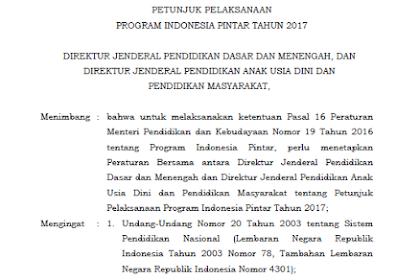 Juklak PIP Terbaru 2017
