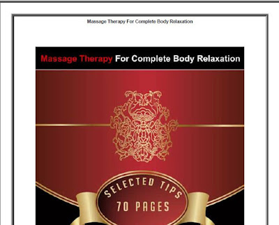 Massage Therapy For Body Relaxation Download eBook in PDF