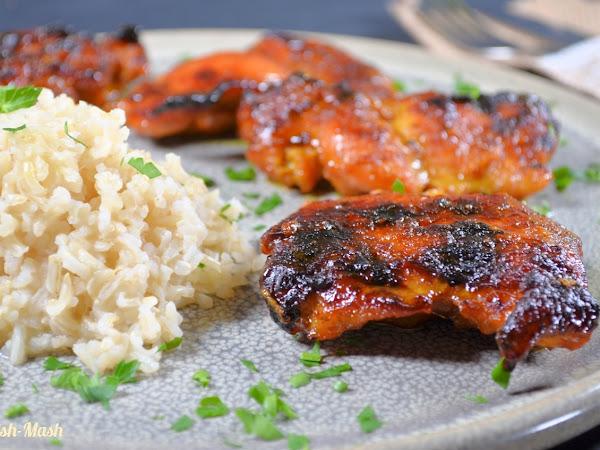 Сочно лютиво-сладко пиле