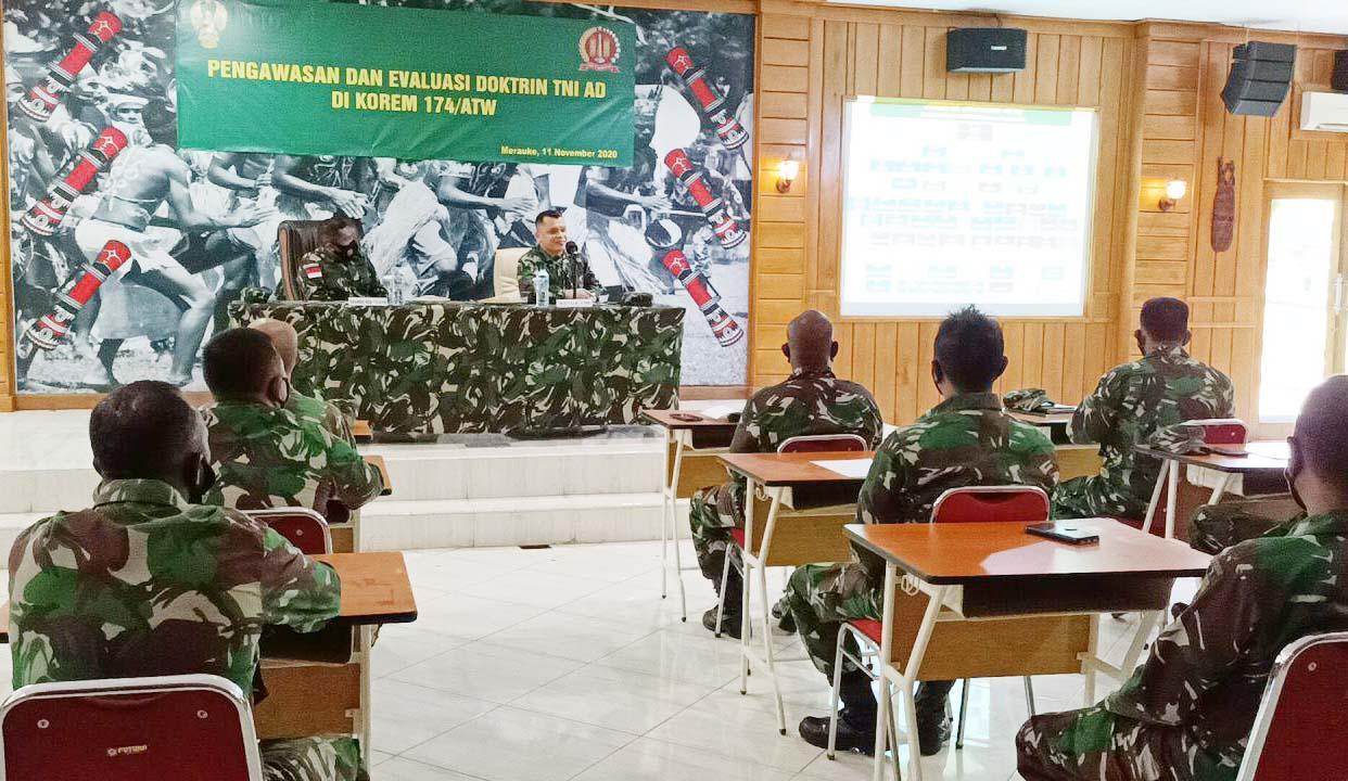 Pengawasan dan Evaluasi Doktrin TNI AD di Wilayah Korem 174/ATW