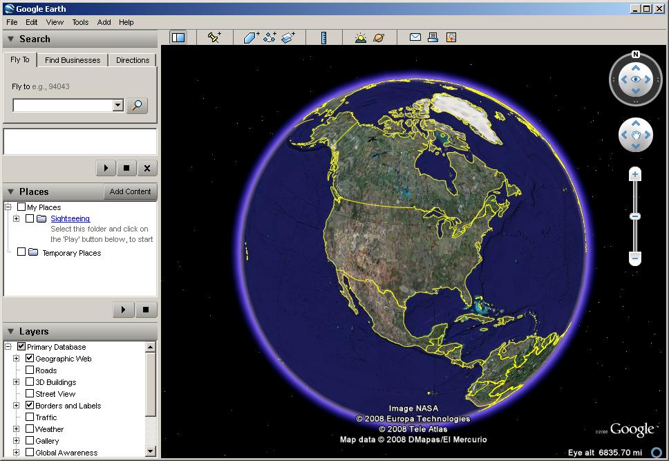 برنامج لمشاهدة منزلك من على جهازك Google Earth تحميل برنامج