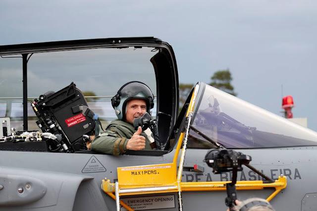 Brazilian pilot first flight Gripen