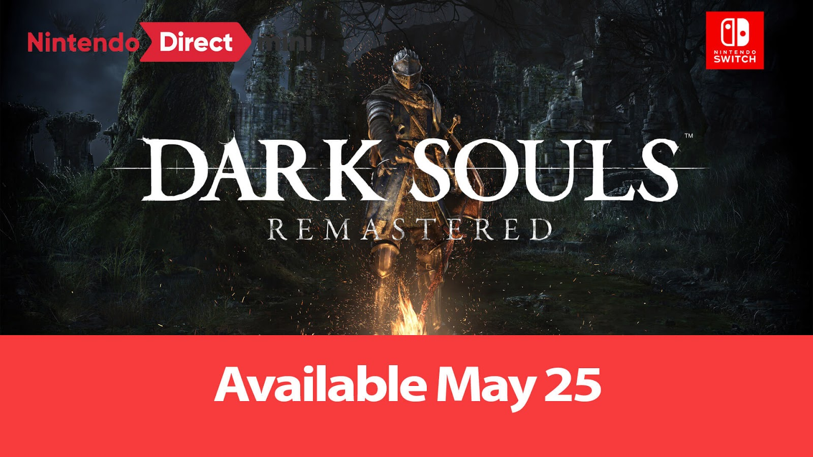Dark Souls Remastered Nintendo Switch Release Date: Nintendo Direct Mini January 2018