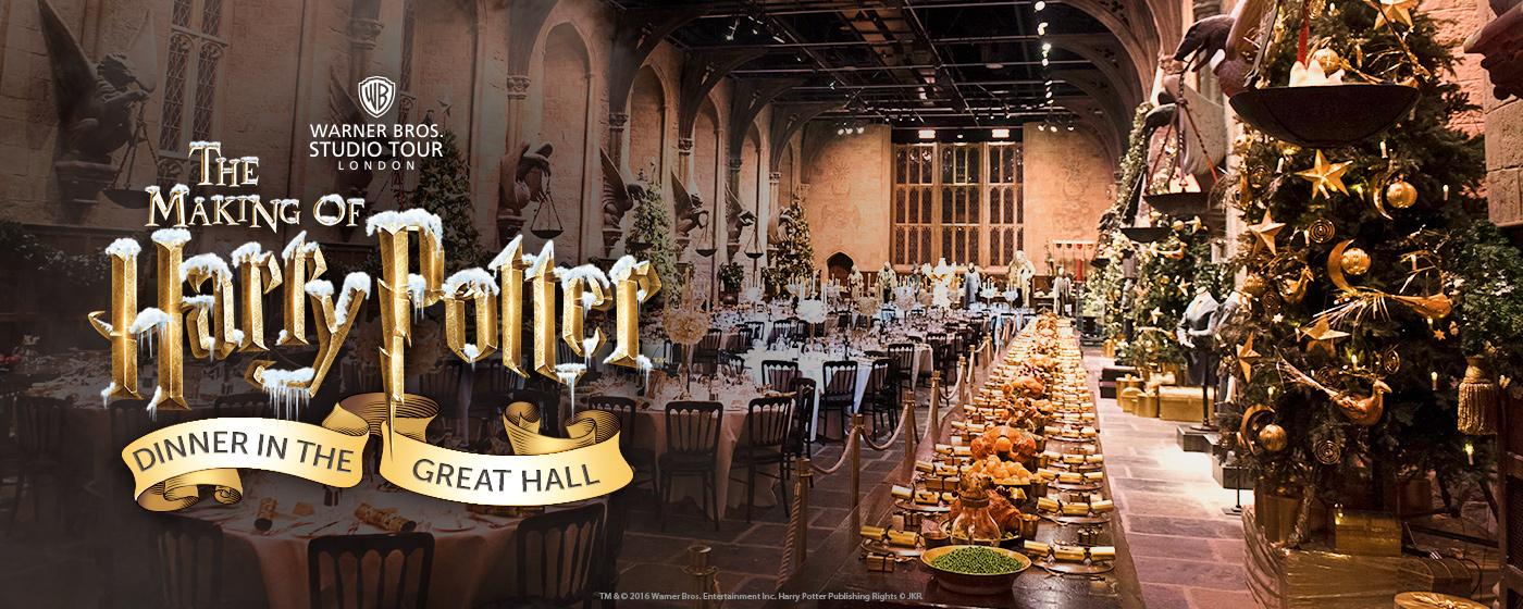 Quieres cenar esta Navidad en el Gran Comedor de Hogwarts