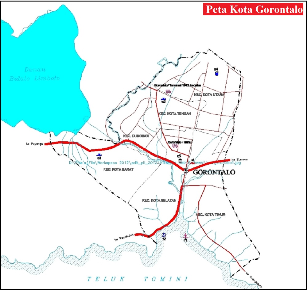 Peta Kota Gorontalo Lengkap
