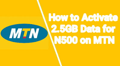 How to Activate 2.5GB Data for N500 on MTN