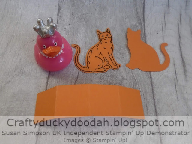 Craftyduckydoodah, Stampers By The Dozen, Halloween 2019, Susan Simpson UK Independent Stampin' Up! Demonstrator, Cat Punch, Treat Holder, Nine Lives, Supplies available 24/7 from my online store,