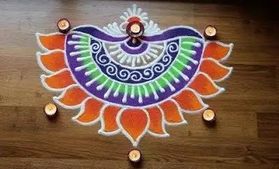 small border rangoli design for doors