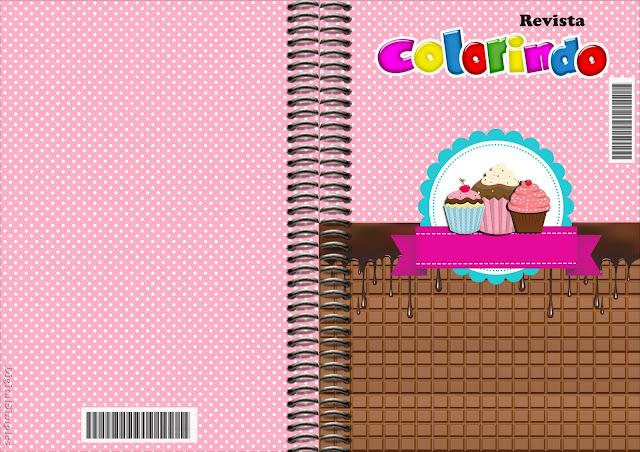 Carátula de libro para colorear de Chicas Haciendo Cupcakes para imprimir gratis.