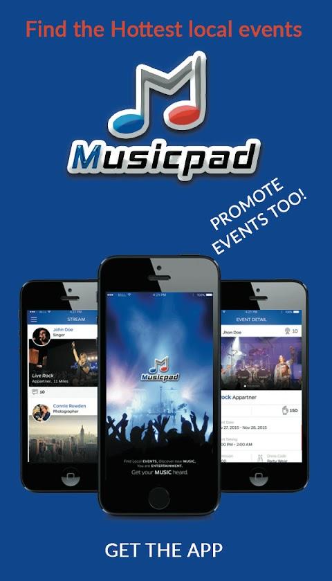 Best Event Marketing App called MusicPad