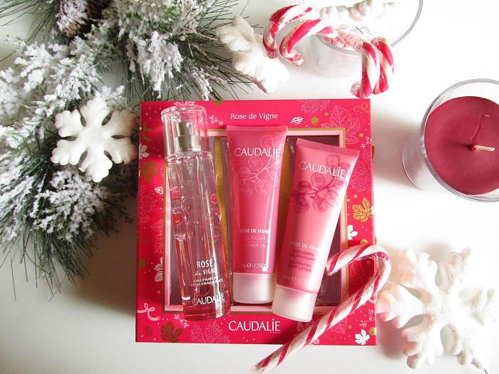 Geschenkidee Weihnachten: CAUDALIE Rose de Vigne Geschenkset - 25.20 Euro mit Eau Fraiche, Duschgel & Bodylotion