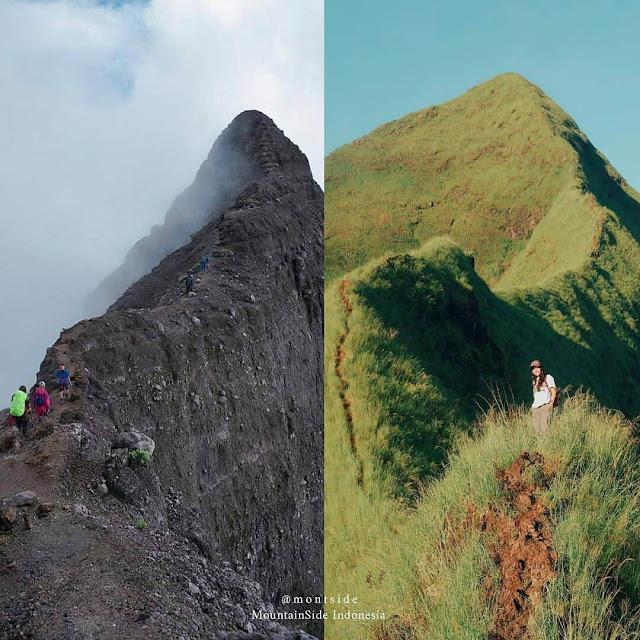 gunung raung dan piramid