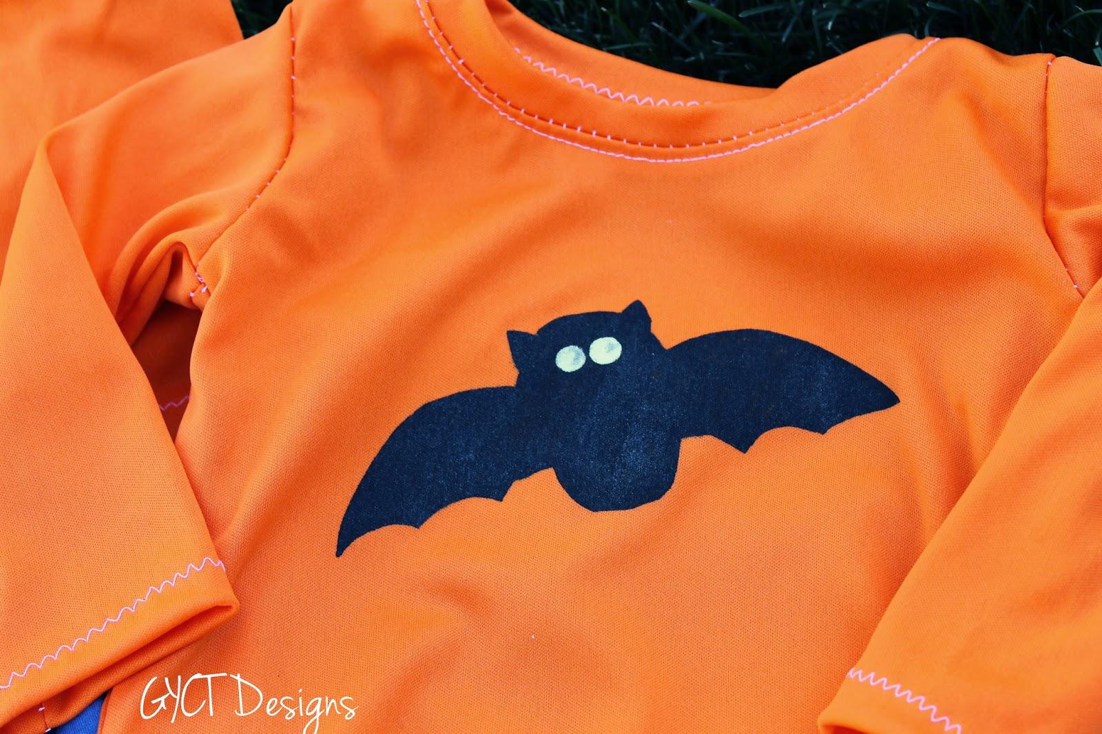 Halloween Pajamas With Free Bat Template From Gyct