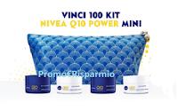 Logo Nivea ''Iscriviti e prova a vincere Q10 Power Mini'': vinci gratis 100 pochette con 4 creme mini-size