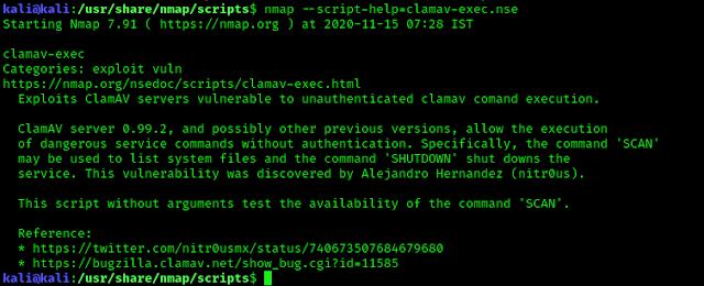 help of nmap exploit scripts