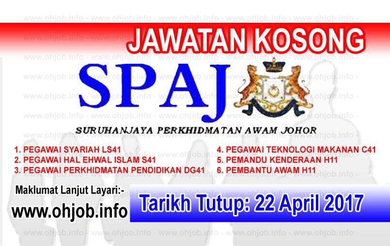 Jawatan Kerja Kosong SPAJ - Suruhanjaya Perkhidmatan Awam Johor logo www.ohjob.info april 2017