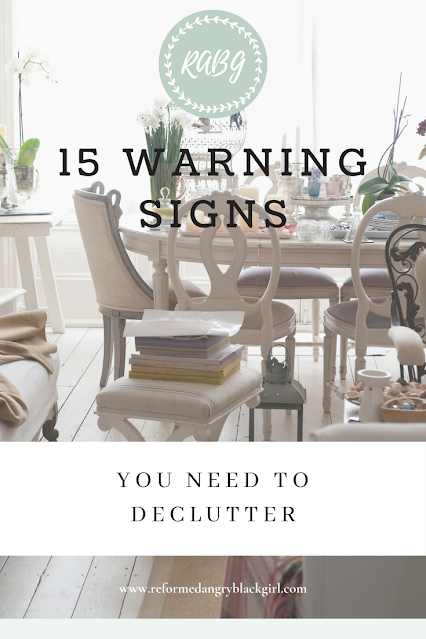 Declutter your house can declutter your mind.