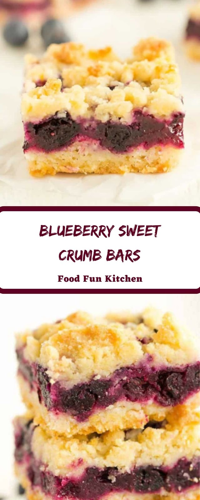 BLUEBERRY SWEET CRUMB BARS