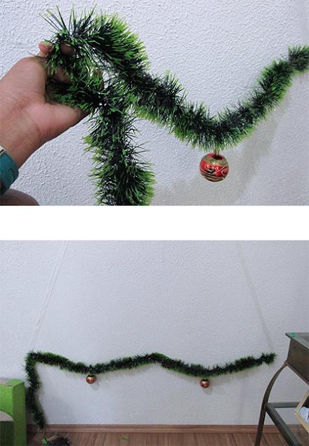 DIY Árvore de Natal: passo 3