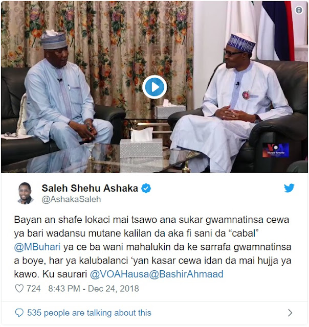 Buhari Challenges Wife, Aisha, Others To Come Forward With Prove Of Cabal Influence On Him