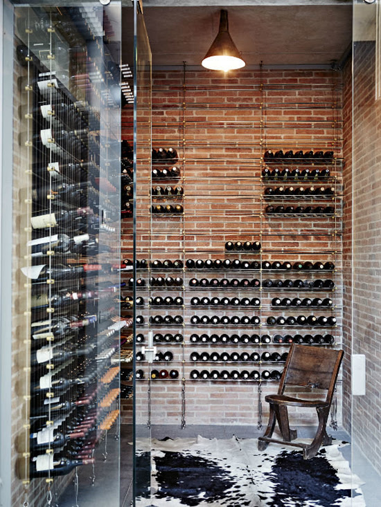 Safari Fusion blog | Klompie bricks | Industrial style wine cellar in a Groot Constantia residence, Cape Town South Africa