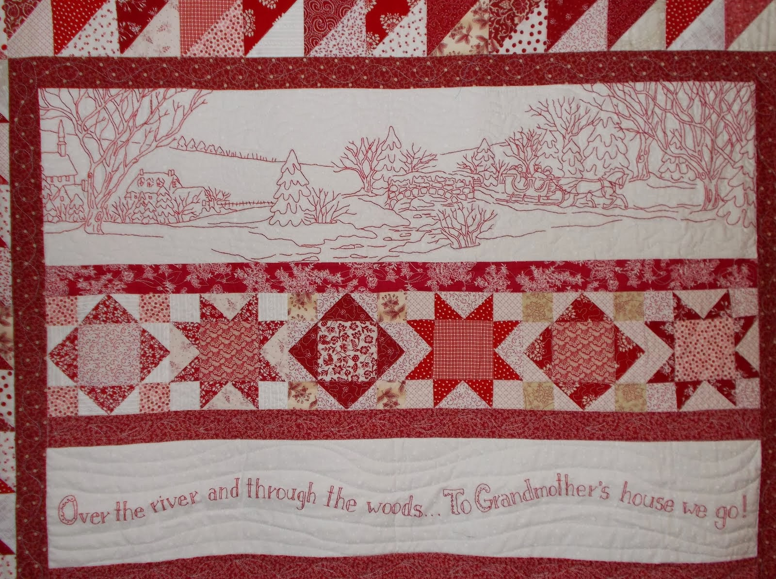 Quilting Potpourri Over The River And Through The Woods