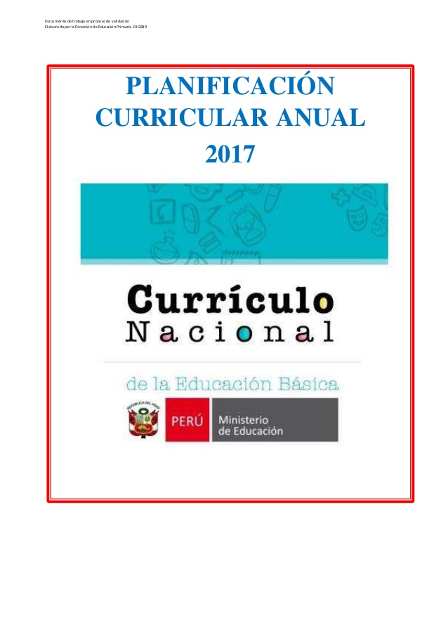 Propuestas educativas planificaci n anual de 1 a 6 grado for Nuevo curriculo de educacion inicial