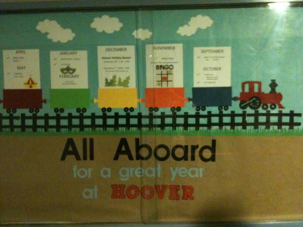 Train Theme Bulletin Boards