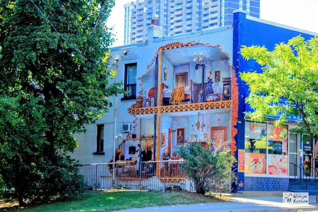 Mural - w środku budynku - street art