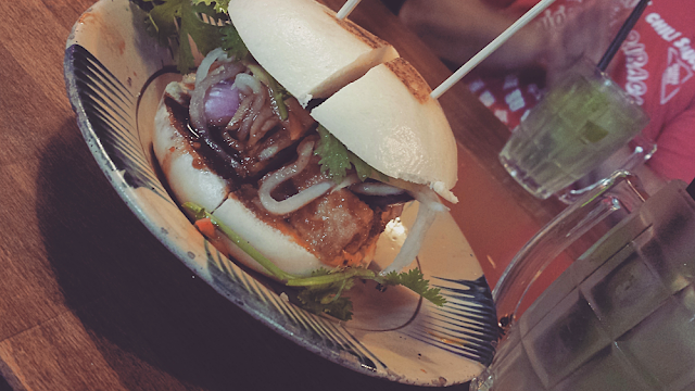 Bun Bao burger at District Môt in Mitte, Berlin