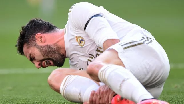 Carvajal's injury kept him away from participating in Real Madrid's training