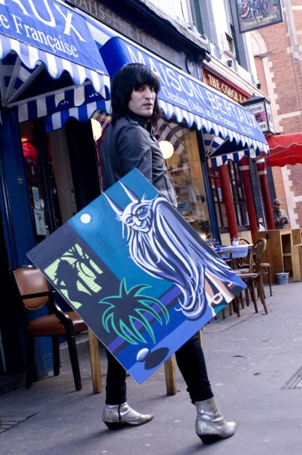 London Town Noel Fielding Art Exhibit