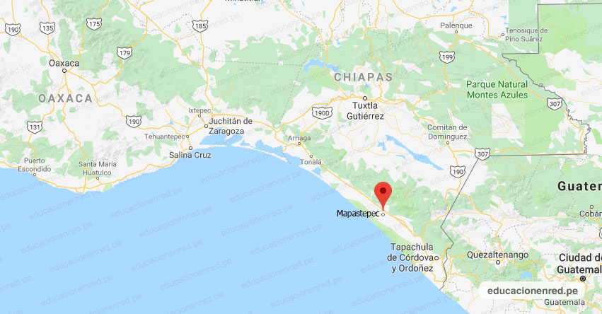 Temblor en México de Magnitud 4.0 (Hoy Martes 01 Junio 2021) Sismo - Epicentro - Mapastepec - Chiapas - CHIS. - SSN - www.ssn.unam.mx