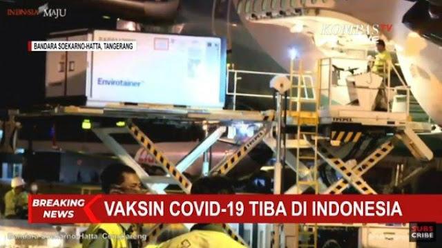BREAKING NEWS - 1,2 Juta Vaksin Covid-19 Jenis Sinovac Tiba di Indonesia, Ini Pernyataan Jokowi