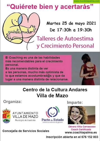 Mazo organiza un nuevo taller de Autoestima y Crecimiento Personal para luchar por la igualdad