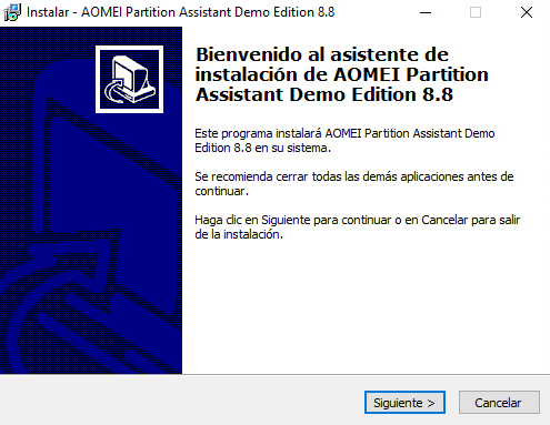 como descargar AOMEI Partition Assistant Professional