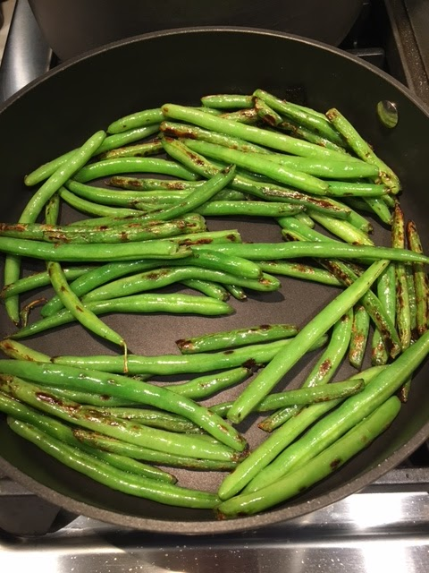 Blistered green beans recipe