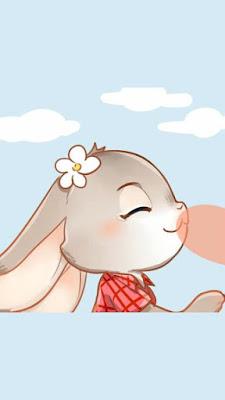 Hình nền Cáo thỏ đang say đắm bên nhau