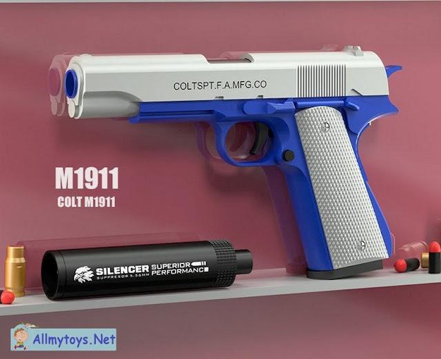 Colt 1911 Shells Ejecting Realistic Toy Gun