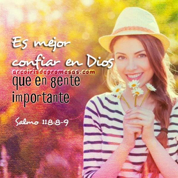 es mejor confiar en dios mensajes cristianos con imágenes arcoiris de promesas