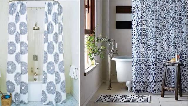 Bathroom shower curtain decorating ideas