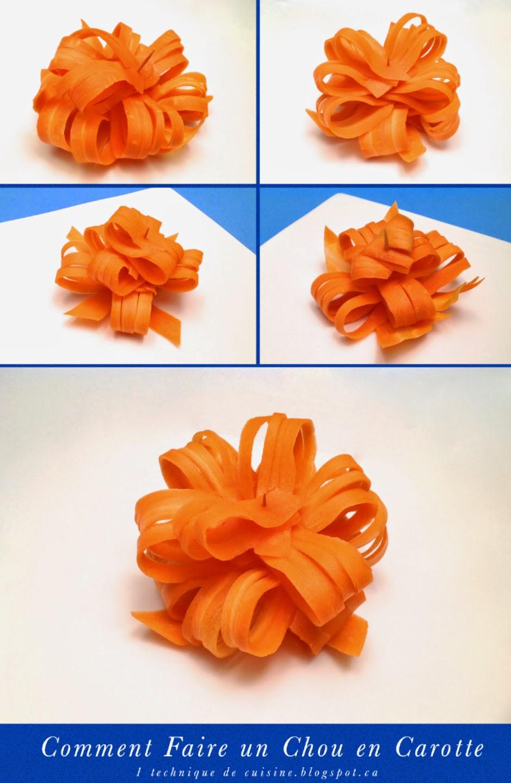 1 technique de cuisine comment faire un chou d 39 emballage cadeau avec une carotte. Black Bedroom Furniture Sets. Home Design Ideas