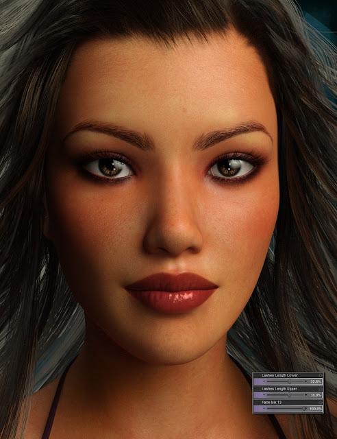 Genesis 3 Female Head Morph Resource Kit 3