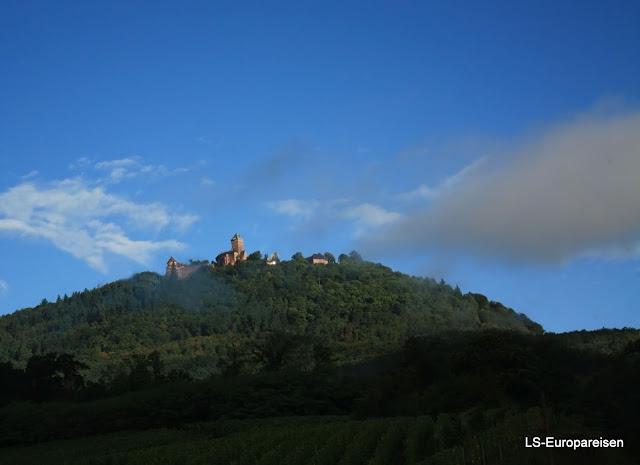 винная дорога, Эльзас, Верхний Кенигсбург, замок, О-Кенигсбур, Франция