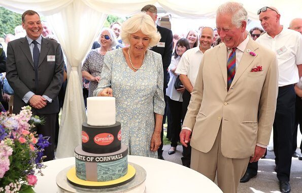 The Duke and The Duchess attended a garden party which celebrated the 50th anniversary of Ginsters bakery, Ginsters