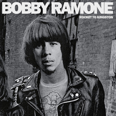"""The cover image features a part of the cover of The Ramones' """"Rocket to Russia,"""" but with Bob Marley's face on one of The Ramones' bodies."""